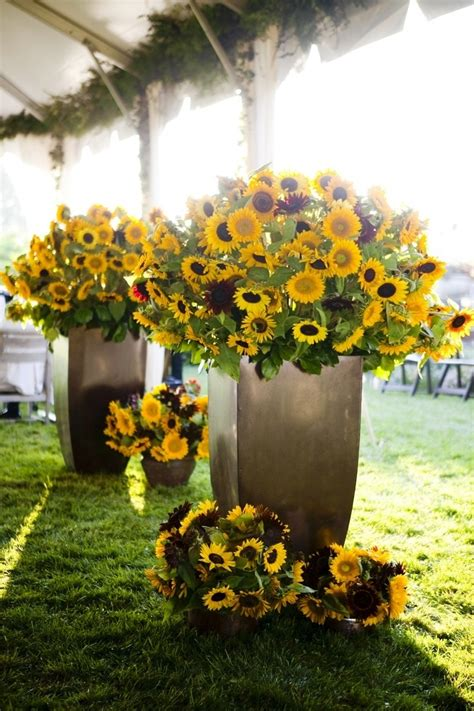 sunflower wedding flower arrangements decorations wohh