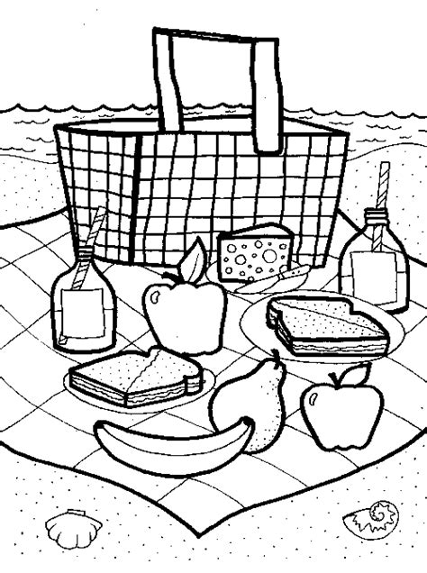 picnic basket coloring page fun family crafts