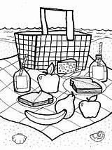 Picnic Coloring Basket Crafts Preschool Printable Picnics Baskets Friends Fun Activities Piquenique Coisas Craft Colorir Funfamilycrafts Printables Theme Activity Sheet sketch template