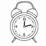 Clock Alarm Coloring Pages Drawing Twelve Template Preschooler Printable Sketch Oclock Digital Getcolorings Face Getdrawings sketch template