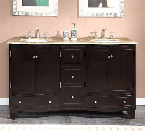 60 In Bathroom Vanity Sink by 60 Inch Travertine Top Bathroom Vanity Dual Lavatory