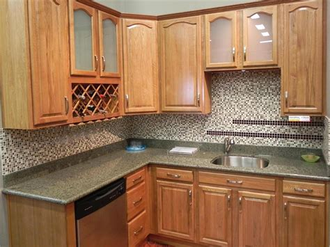 Kitchen Backsplash Pictures With Oak Cabinets by Light Oak Kitchen Ideas Quicua