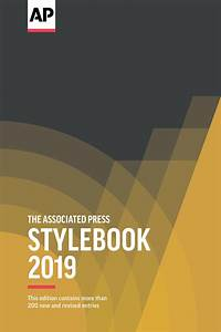 Ap Books The Associated Press Stylebook 2019