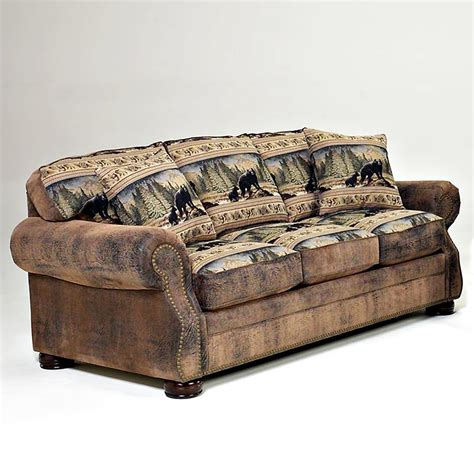 Cabin Sleeper Sofa by Lodge Furniture For Cabin Or Home
