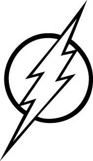 Black and White Flash Logo Coloring Pages