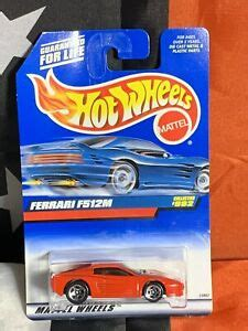 Released over a decade ago in 2007, the car is mint/unopened, the blistercard shows its age. VINTAGE FERRARI F512M RED Metal 1999 Hot Wheels Blue Card ...