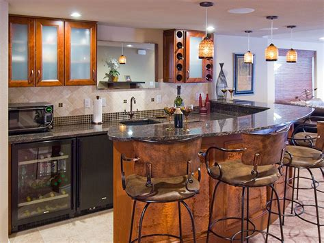 Wet Bars In Basements by Basement Bar Ideas With Black And White Theme
