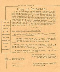 Duncan Farmstead: Sharecropper and Tenant Agreements 1945