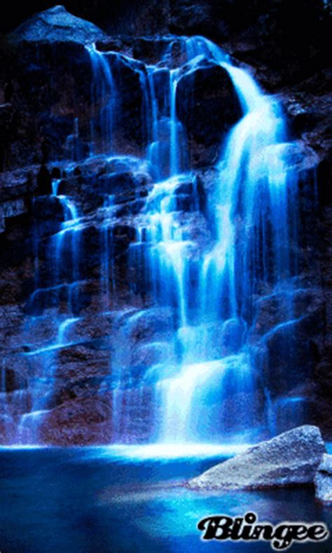 blue waterfalls picture  blingeecom