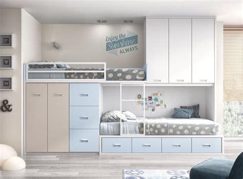 lit mezzanine 2 places avec canapé camas tren a medida para dormitorios juveniles o infantiles