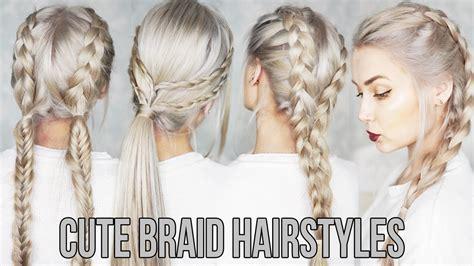 cute easy braid hairstyles youtube