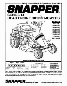 Snapper Lawn Mower 301214be User Guide