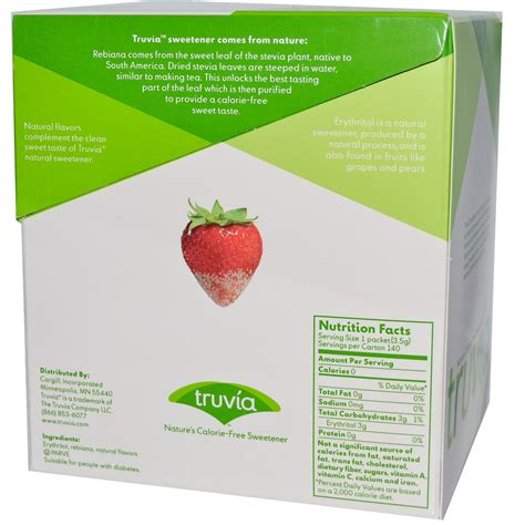 Truvia, Nature's Calorie Free Sweetener, 140 Packets, 3.5
