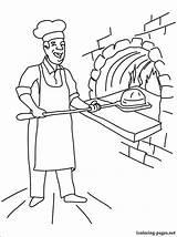 Baker Coloring Boulanger Drawing Coloriage Imprimer Printable Dessin Boulangerie Profession Line Colorier Dessins Professions sketch template