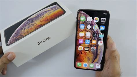 iphone xs max unboxing overview gold color