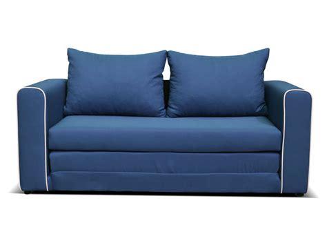 canapé bleu conforama canapé fixe convertible 2 places en tissu coloris