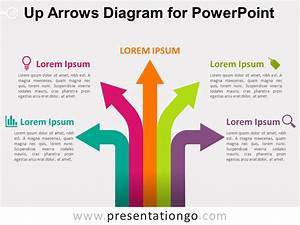 Up Arrows Diagram For Powerpoint