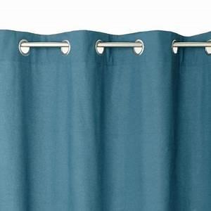 Rideau Voilage Bleu Canard : rideau zen paon 140 x 240 cm castorama ~ Teatrodelosmanantiales.com Idées de Décoration