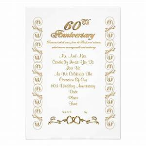 60th anniversary party invitation 5quot x 7quot invitation card With 60th wedding anniversary invitations