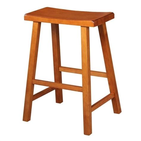 international concepts 24 quot saddleseat counter distressed - Oak Bar Stools