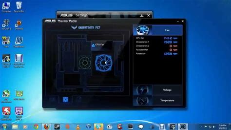 fan speed control software asus ai suite ii overclock aftermath fan control speeds