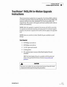 Upgrade Instructions - Tracvision R4sl R4