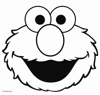 Elmo Coloring Pages Face Printable Sesame Street