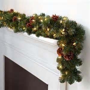 corded led pre lit oregon fir christmas garland buy now