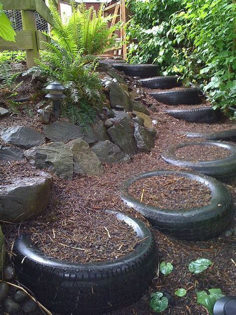 creative ways  repurpose  tires hative