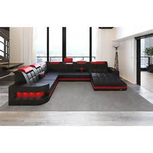 big sofa u form sofa u form design sectional sofa matera with led lights grey black ebay sectional