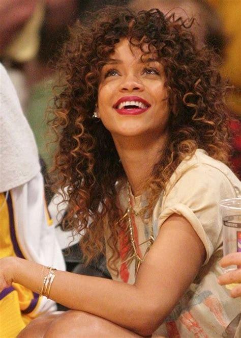 rihanna curly hair rihanna s curly hair amazing hair