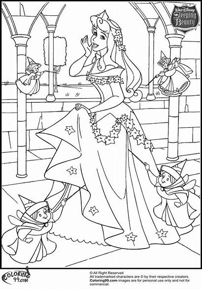 Aurora Coloring Princess Pages Disney
