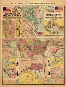 H H Lloyd Co 39 S Campaign Military Charts Showing The