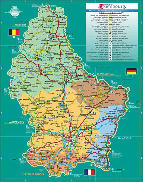 maps  luxembourg detailed map  luxembourg  english