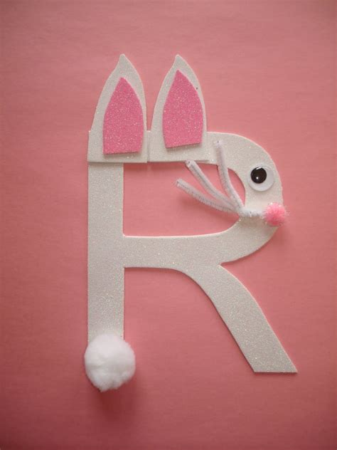 letter r crafts preschool rabbit letter play and learn with