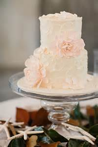 Pink and White Simple Wedding Cake