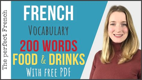 FOOD AND DRINKS - French vocabulary 200 words (with free ...