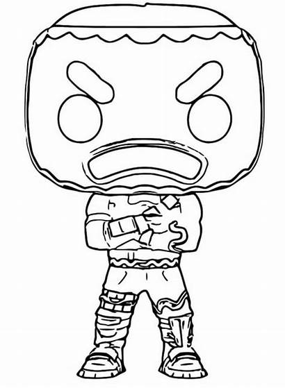 Fortnite Funko Pop Coloring Pages Dibujos Merry