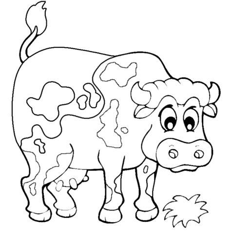 disegno  la mucca della fattoria da colorare  bambini