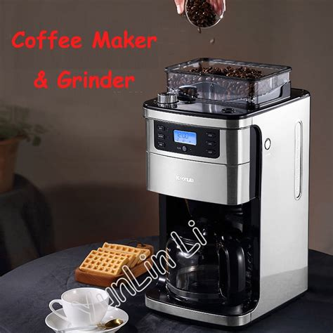 It's because ground coffee becomes stale immediately following the grinding process. Full automatic American Coffee Machine 1.5L Coffee Grinder Freshly Brewed Coffee Maker Coffee ...