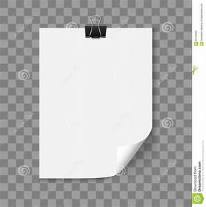 White Paper Sheet With Curled Corner Stock Vector Image