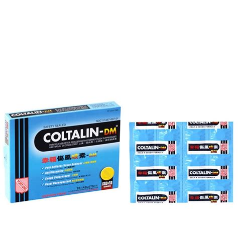 coltalin dm cold tablets treating cold cough  nasal