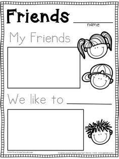 images  friendship printable worksheets