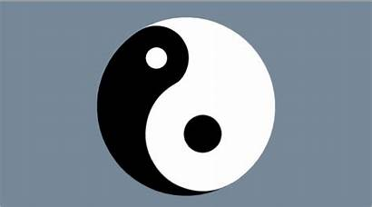 Yang Yin Symbol Rotating Decreasing Animated Result