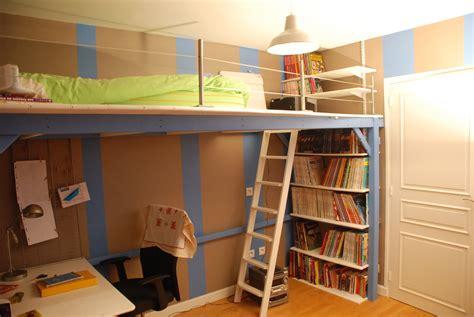chambre en mezzanine mezzanine sur mesure pour une chambre d adolescent