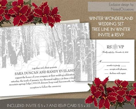 winter wedding invitation winter invitation tree wedding