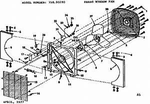 Kenmore Sears Window Fan Parts