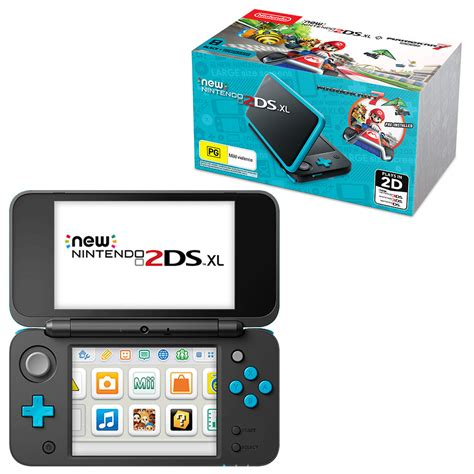 Nintendo 2ds Console by New Nintendo 2ds Xl Black Turquoise Console With Mario