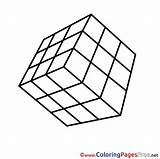 Coloring Cube Printable Rubiks Rubik Colouring Sheets Sheet Cubes Template Title Hits sketch template