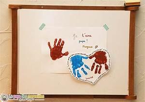 Bricolage Fête Des Pères Maternelle : c ur en empreintes de mains pour la f te des p res ~ Melissatoandfro.com Idées de Décoration